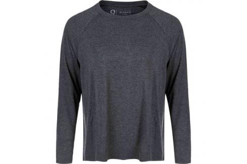 Dámské tričko Endurance Q Cihera Melange LS Tee černé Dámské oblečení