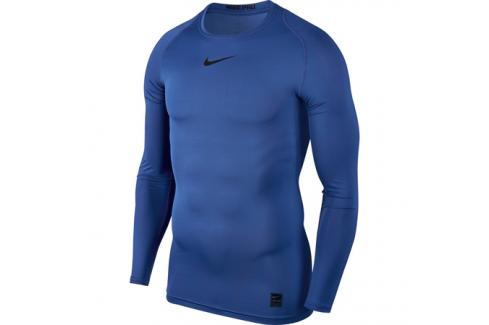 Pánské tričko Nike Pro Top LS Compression Game Royal Trička s krátkým rukávem