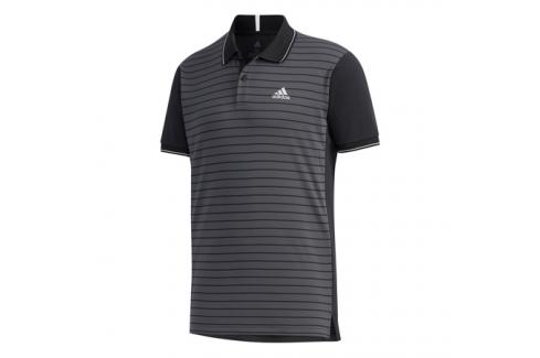 Pánské tričko adidas HEAT.RDY CB Polo Black Trička s krátkým rukávem