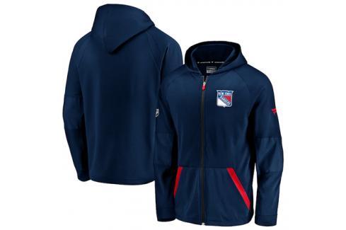 Pánská mikina na zip s kapucí Fanatics Rinkside Gridback Full-Zip Hoodie NHL New York Rangers Pánské mikiny