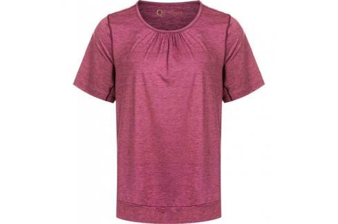 Dámské tričko Endurance Q Bree Melange SS Tee vínové Dámské oblečení