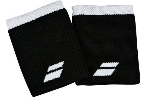 Potítka Babolat Logo Jumbo Wristband Black/White (2 ks) Potítka
