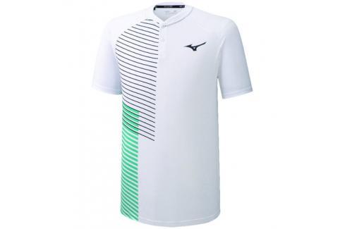Pánské tričko Mizuno Shadow Polo White Trička s krátkým rukávem