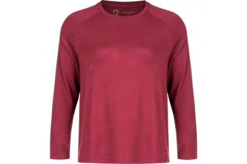 Dámské tričko Endurance Q Cihera LS Tee vínové Dámské oblečení