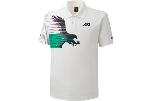 Pánské tričko Mizuno Archive Polo Eagle Collection White Trička s krátkým rukávem