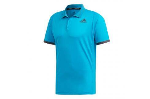 Pánské tričko adidas Freelift Polo Primeblue Blue Trička s krátkým rukávem