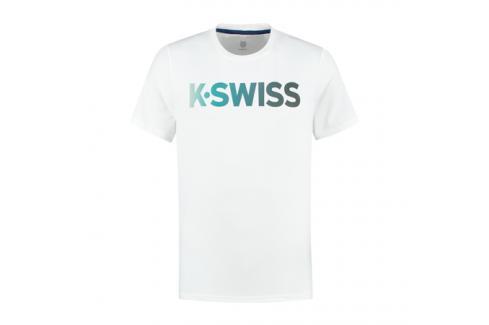Pánské tričko K-Swiss Hypercourt Tee White Trička s krátkým rukávem