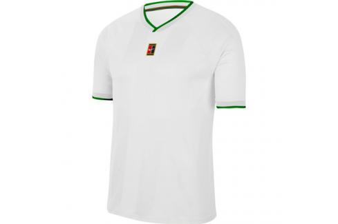 Pánské tričko Nike Court Breathe Slam White Trička s krátkým rukávem